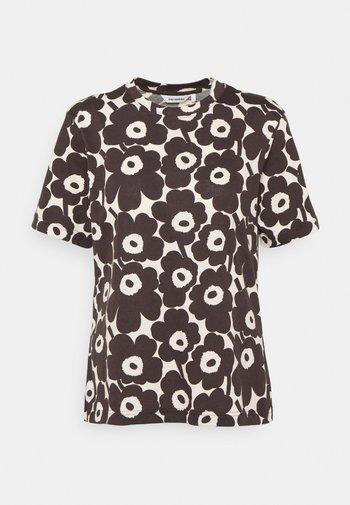 CLASSICS KAUTTA MINI UNIKKO - Print T-shirt - light beige/dark brown