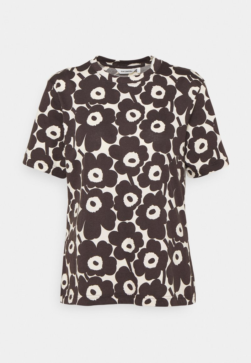 Marimekko - CLASSICS KAUTTA MINI UNIKKO - Print T-shirt - light beige/dark brown