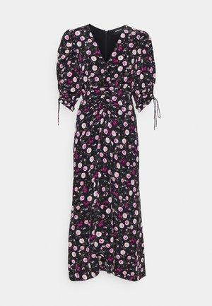 DRESS - Długa sukienka - black/pink