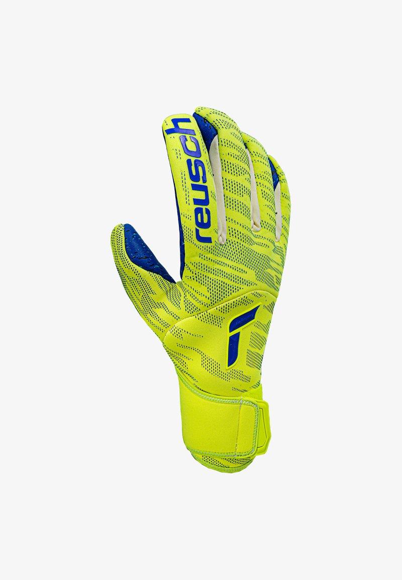 Reusch - PURE CONTACT FUSION TW - Goalkeeping gloves - gelbblau