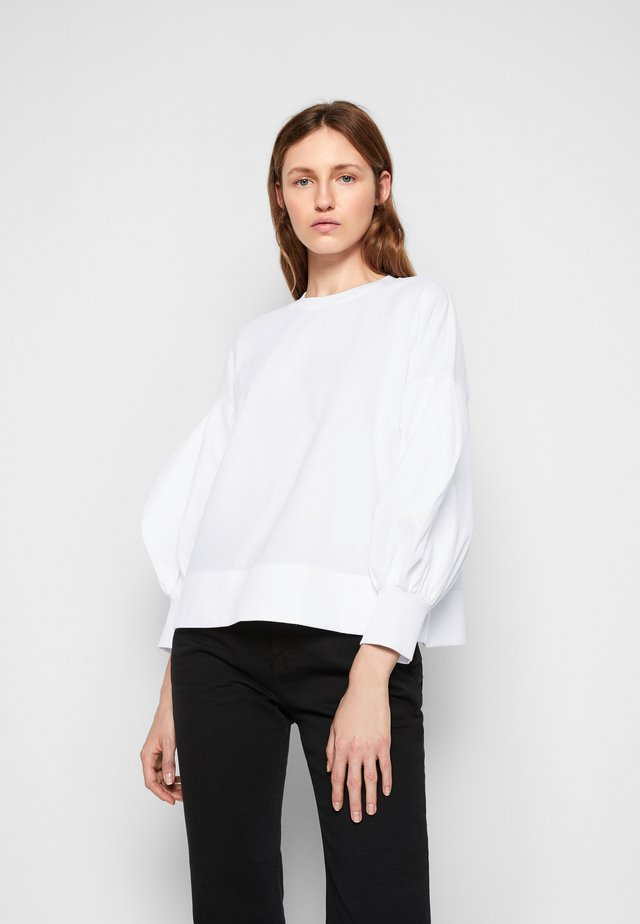 BLOUSON SLEEVE TOP - Long sleeved top - white