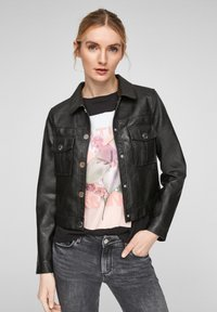 QS by s.Oliver - Faux leather jacket - black - 0