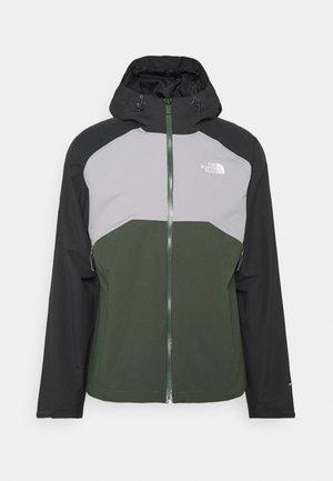 MENS STRATOS JACKET - Hardshell jacket - asphalt grey/thyme/grey
