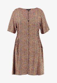 New Look Curves - LILIAN DITSY LATTICE WAIST DRESS - Robe d'été - black - 4