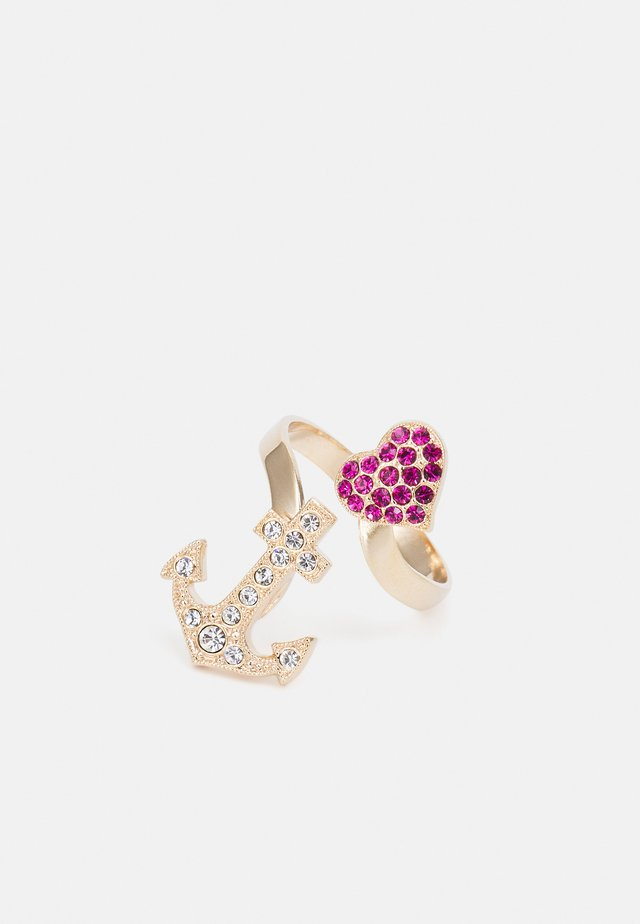 ANCHOR HEART - Bague - fuchsia