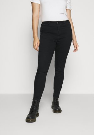 LAWLESS HIGHWAISTED SUPERSOFT ANKLE ZIP - Skinny džíny - black