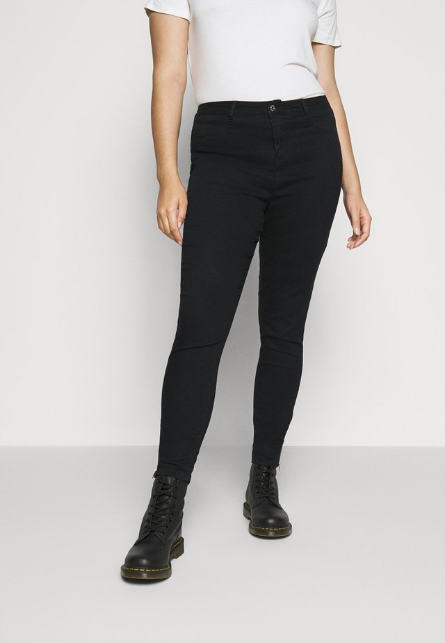 LAWLESS HIGHWAISTED SUPERSOFT ANKLE ZIP - Skinny-Farkut - black