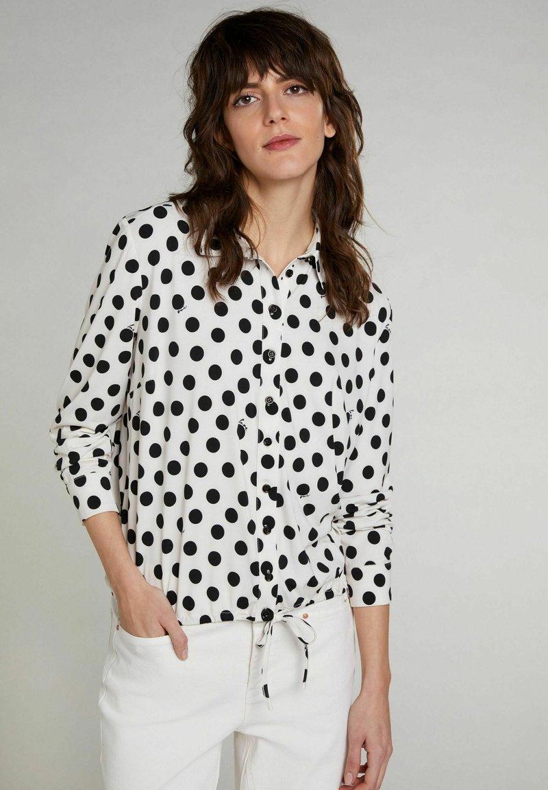 Oui - Button-down blouse - offwhite black