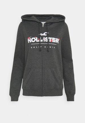 SECONDARY TECH CORE - Zip-up hoodie - darker grey