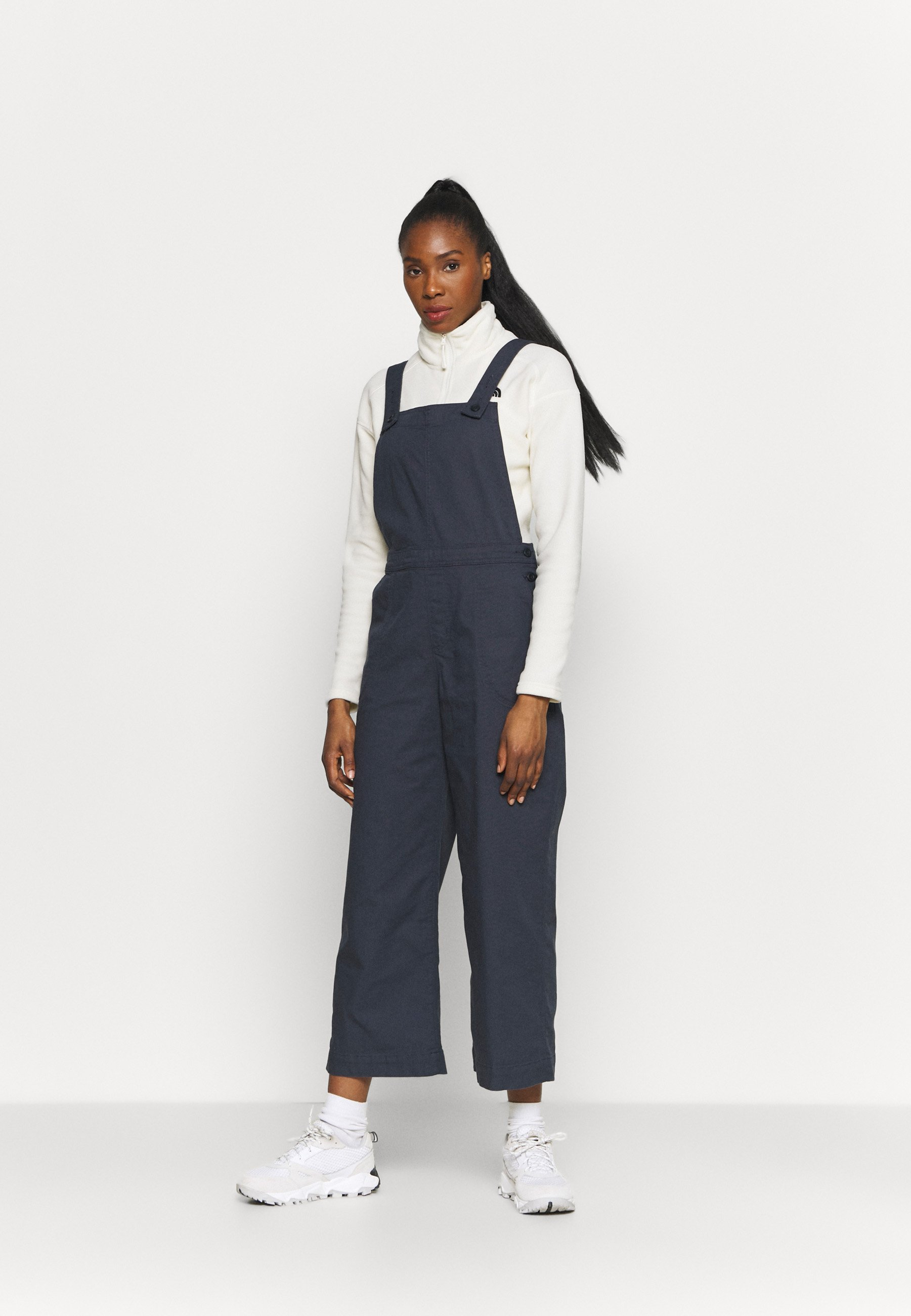 Donna STAND UP CROPPED OVERALLS - Pantaloni