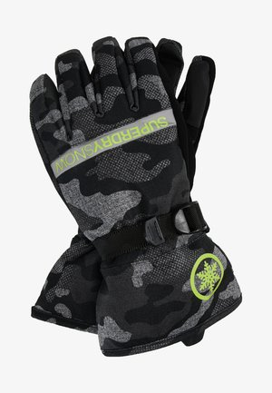 Gloves - contrast camo/rescue yellow