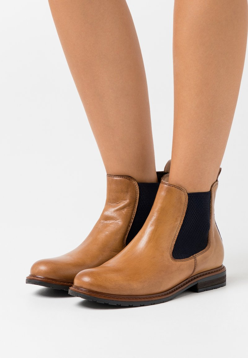 Tamaris - BOOTS - Classic ankle boots - nut/blue