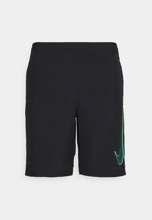 Pantalón corto de deporte - black/dark teal green