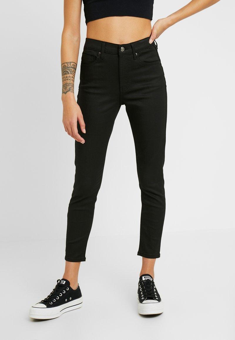 Topshop Petite - COATED CLEAN JAMIE - Jeans Skinny Fit - black
