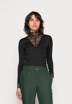 YASBLACE HIGH NECK - Pitkähihainen paita - black