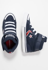 Converse - PRO BLAZE STRAP EMBROIDERED - Zapatillas altas - obsidian/university red/white - 0