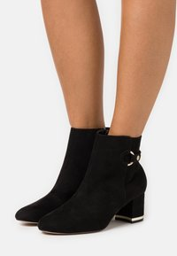 Dorothy Perkins Wide Fit - WIDE FIT ARIA GOLD TRIM BOOT - Ankle boots - black - 0