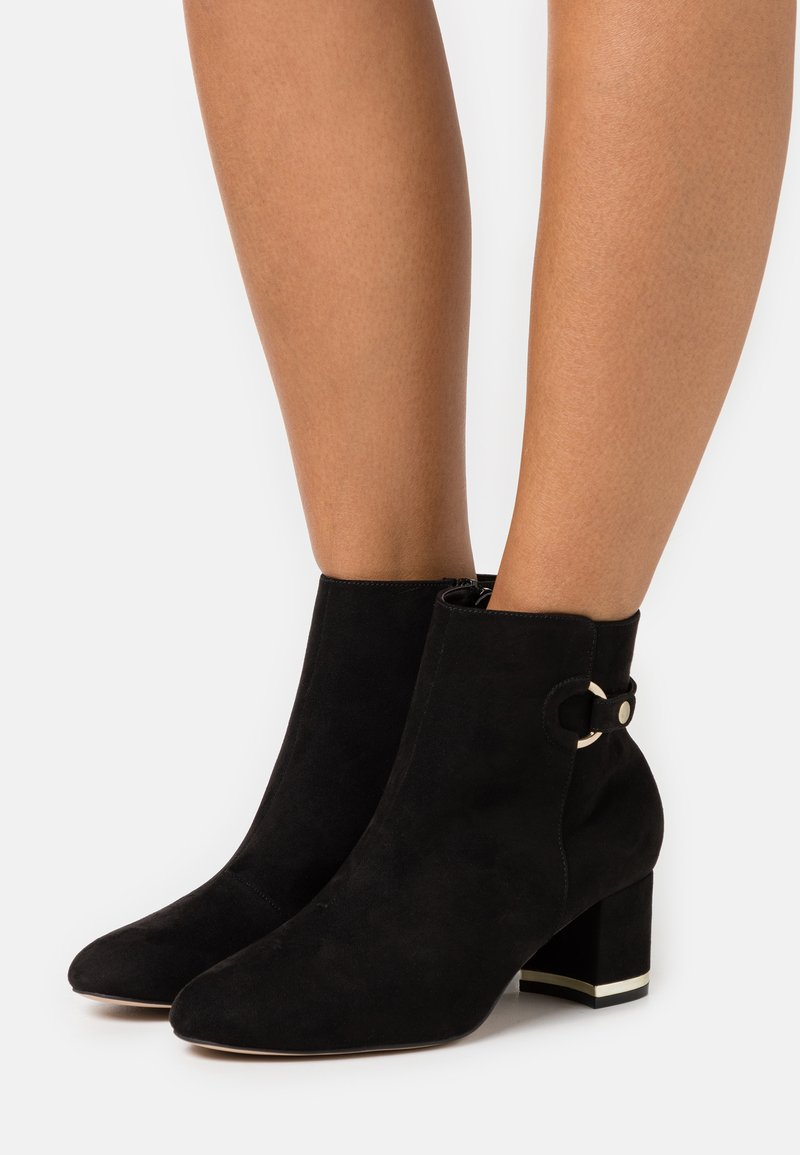 Dorothy Perkins Wide Fit - WIDE FIT ARIA GOLD TRIM BOOT - Ankle boots - black