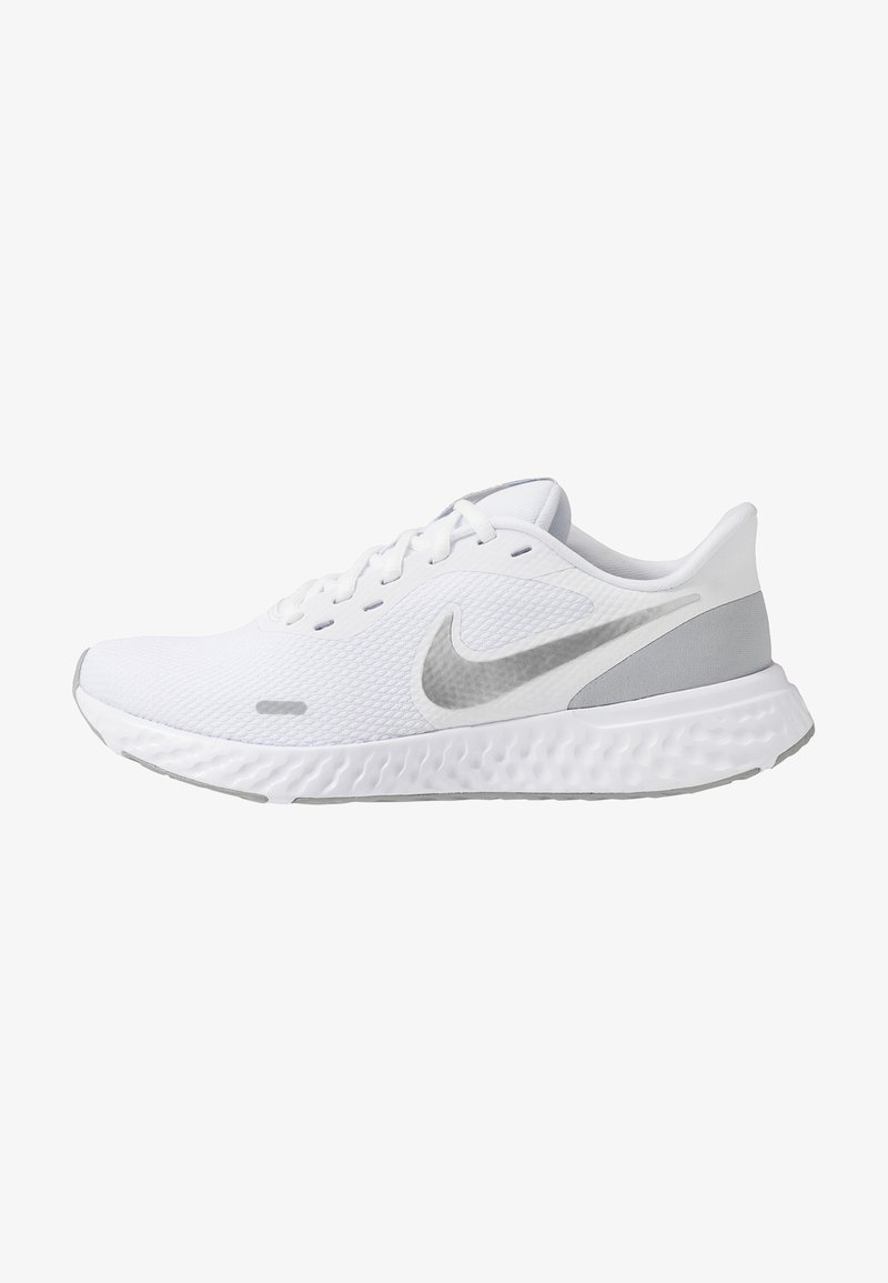 Nike Performance - REVOLUTION 5 - Juoksukenkä/neutraalit - white/wolf grey/pure platinum