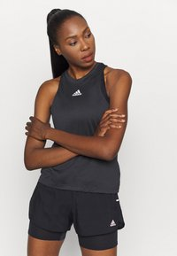 adidas Performance - TANK - Sports shirt - black - 0