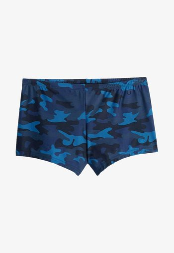 Swimming trunks - st.camouflage blu scuro