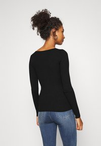 Even&Odd - BASIC- V-neck jumper - Jumper - black - 2