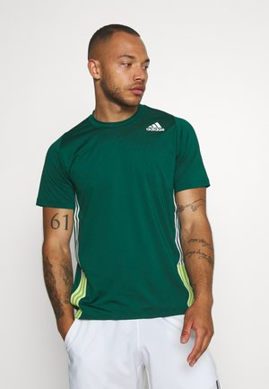 TEE - T-shirt med print - green