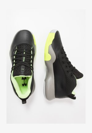 LOCKDOWN 4 - Basketball shoes - black/gravity green/x-ray