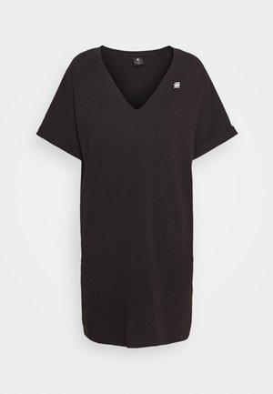 LOOSE DRESS V WMN S\S - Jerseykjole - black