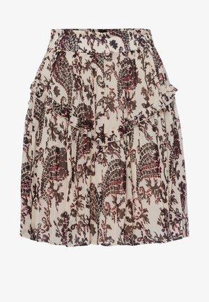 ROCK - Pleated skirt - light cream varied