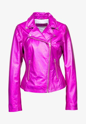 PRINCESS MILA - Leather jacket - pink