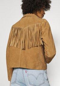 Oakwood - JANIS - Leather jacket - tan - 4