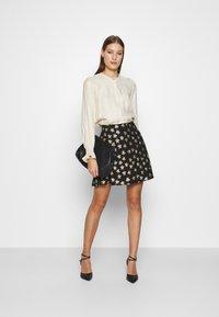Fabienne Chapot - LOT SKIRT - Mini skirt - black/gold - 1