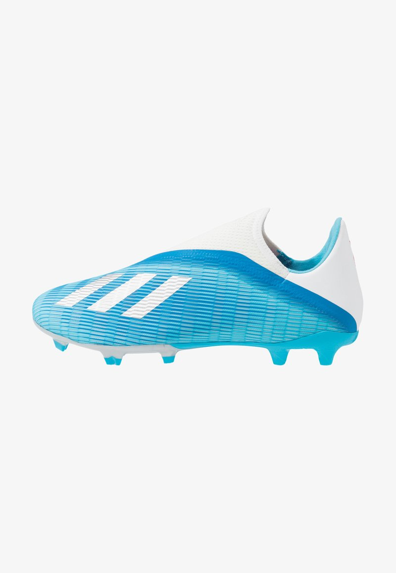 adidas Performance - X 19.3 LL FG - Moulded stud football boots - bright cyan/core black/shock pink