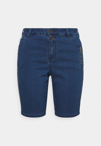 JABBEY - Denim shorts - medium blue denim