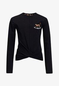 WE Fashion - MET OVERSLAGDETAIL - Camiseta de manga larga - black - 2