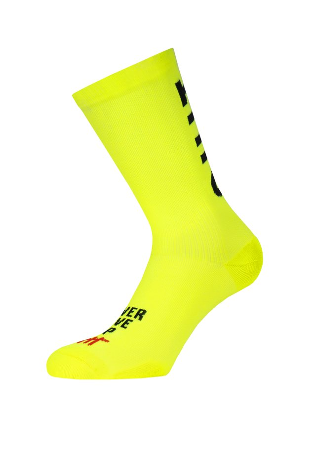 DON'T QUIT - Calze - neon yellow