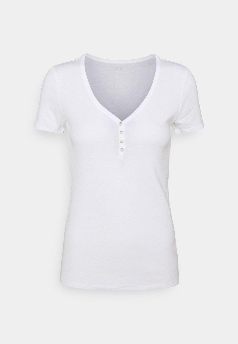GAP - HENLEY TEE - Basic T-shirt - white global