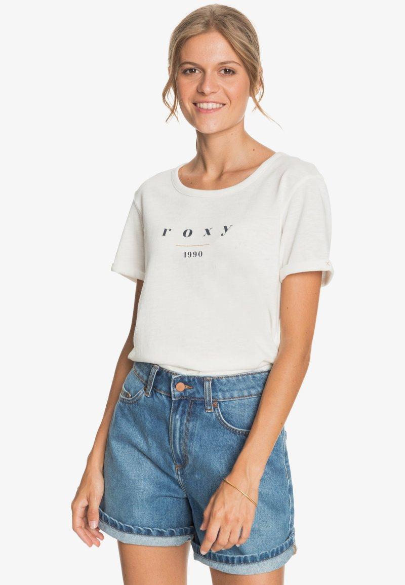 Roxy - OCEANHOLIC  - Print T-shirt - snow white