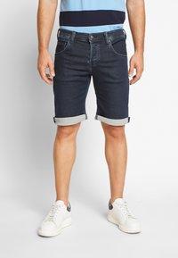 Mustang - CHICAGO  - Denim shorts - black - 0