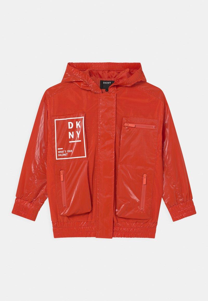 DKNY - HOODED - Light jacket - poppy