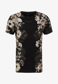 Religion - SKELETON AND PALM - Print T-shirt - black - 3