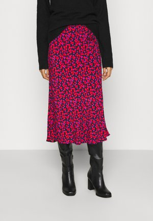 SIDE TIE BIAS MIDI SKIRT - Gonna a campana - pink
