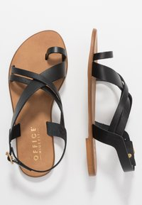Office Wide Fit - SERIOUS - T-bar sandals - black - 3