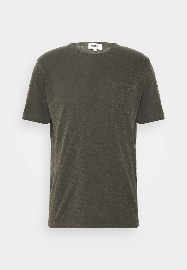 WILD ONES POCKET - T-shirts - dark olive