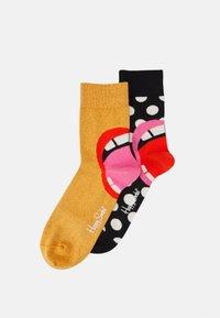 Happy Socks - LAUGH HALF CREW SOCK 2 PACK UNISEX - Socks - multi - 0