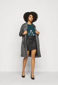 Pieces Petite - PCDORITA COATIGAN NOOS - Classic coat - dark grey - 1