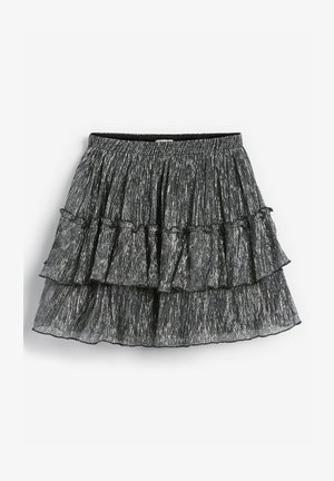 SPARKLE TIERED - A-line skirt - silver