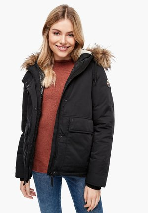 MIT FAKE FUR BLENDE - Winter jacket - black melange