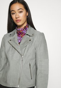 YAS - YASMOUSSE JACKET - Leather jacket - shadow - 3